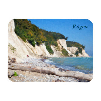Chalk Cliffs, Ruegen Rectangular Photo Magnet