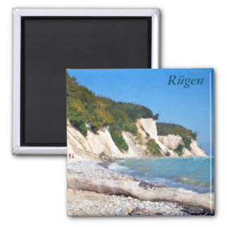 Chalk Cliffs, Ruegen Square Magnet