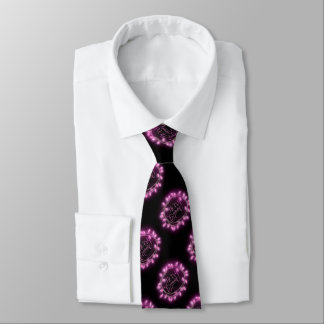 Chalk Drawn Pink Merry and Bright with Lights Tie