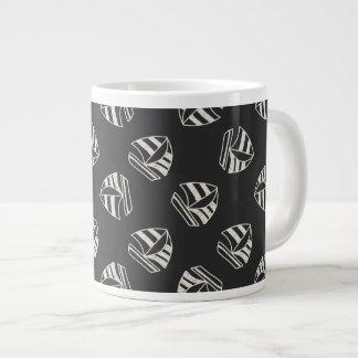 Chalk Drawn Sailboat Pattern Giant Coffee Mug