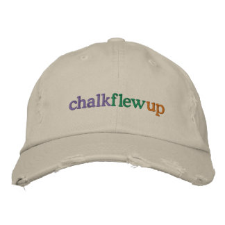chalk flew up (khaki hat) embroidered hats