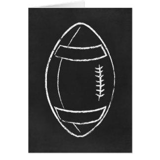 chalk football greeting card