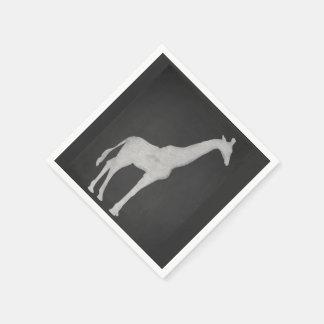 Chalk Giraffe Paper Napkins