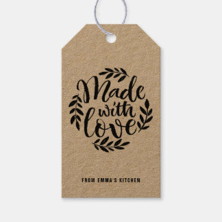 Chalk Lettering Made With Love Kraft Paper Pack Of Gift Tags