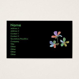 Chalk-like flowers business card