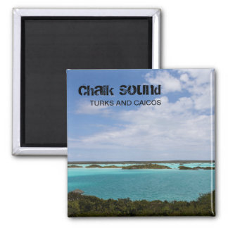 Chalk Sound, Turks and Caicos (TCI), Caribbean Square Magnet