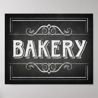 Chalk Style BAKERY Sign Print