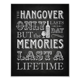Chalk Style Party Print / HANGOVER Quote Sign