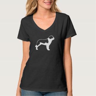 Chalk Style Saint Bernard Silhouette T-Shirt