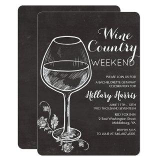 Chalk Wine Country Bachelorette Invitation