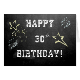 Chalkboard 30th Birthday Card