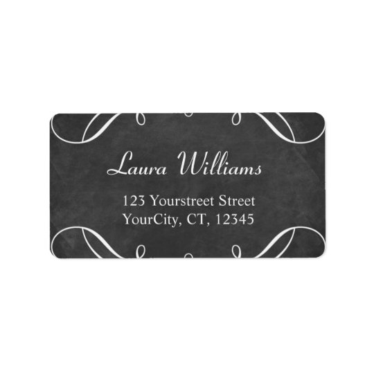 Chalkboard address labels Black and white