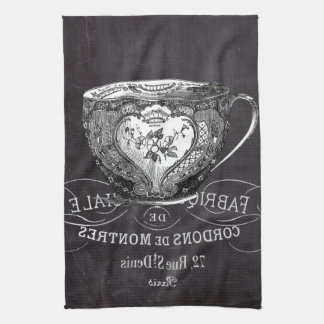 Chalkboard Alice in Wonderland tea party teacup Kitchen Towel