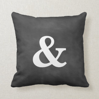 Chalkboard Ampersand Pillow