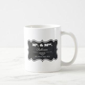 Chalkboard and Ornate Frame Classic White Coffee Mug