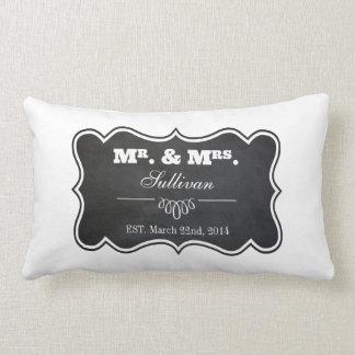 Chalkboard and Ornate Frame Lumbar Pillow