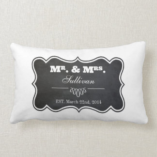 Chalkboard and Ornate Frame Throw Pillows