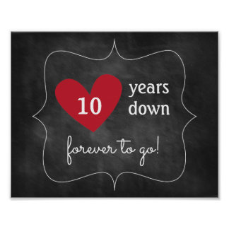 Chalkboard Anniversary Sign | Party Decoration