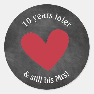 Chalkboard Anniversary Stickers | Still His Mrs.