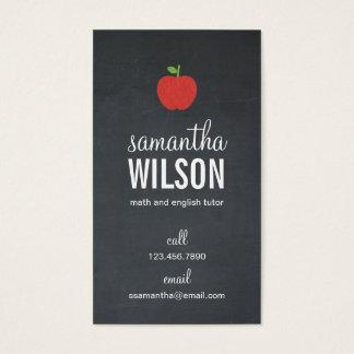 Chalkboard Apple Teacher Business Card - Groupon