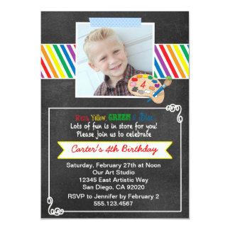 Chalkboard Art Birthday Party Invitation