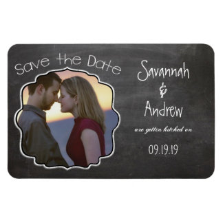 Chalkboard Art Wedding Save the Date Magnet