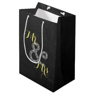 Chalkboard Autumn Wedding Mr & Mrs Party Gift Bag