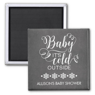 Chalkboard Baby It's Cold Outside Favor Magnet
