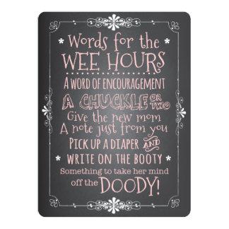 Chalkboard Baby Shower Activity Card Invitation