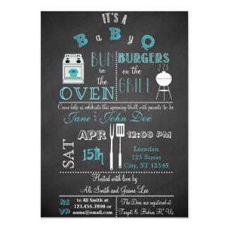 Chalkboard BabyQ blue Card