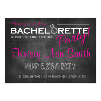 Chalkboard Bachelorette Party Invitation