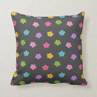 Chalkboard Background with Flowers Throw Pillow