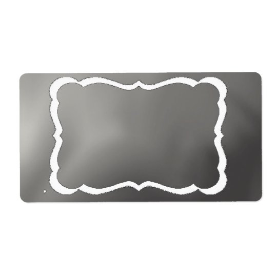 Chalkboard Backing for Labels.... Shipping Label