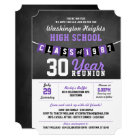 Chalkboard Banner High School Reunion Invitations