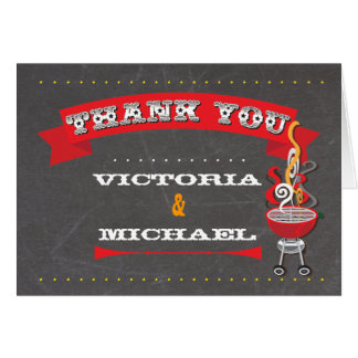 Chalkboard Barbecue Thank you note card