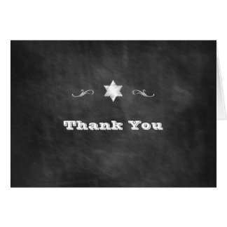 Chalkboard Bat Mitzvah Thank You Card