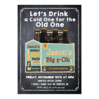 Chalkboard Beer Invitation