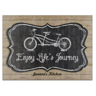 Chalkboard Bicycle for Two Wooden Fence Boards