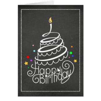 Chalkboard Birthday Cake Card