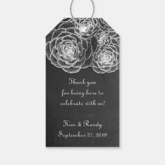 Chalkboard Black Succulents Wedding Gift Tags