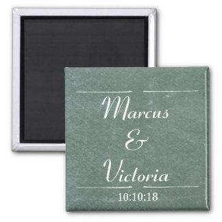 Chalkboard Blackboard Wedding Anniversary Magnet