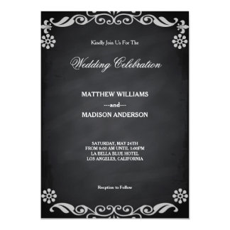 Chalkboard Blackboard Wedding Invitation