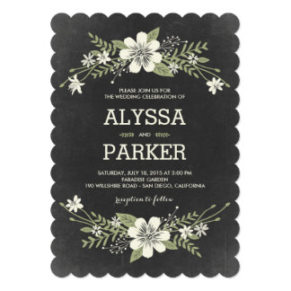 Chalkboard Wedding Invitations Announcements Zazzle Canada