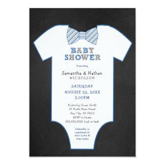 Chalkboard Bow Tie Undershirt boy Baby Sprinkle Card