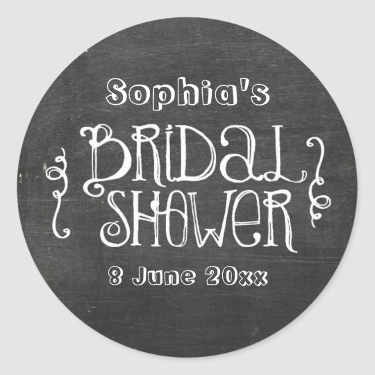 chalkboard bridal shower sticker