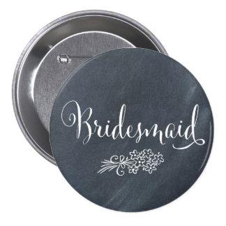 Chalkboard Bridesmaid Button