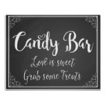 chalkboard Candy Bar Love is sweet wedding print