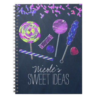 Chalkboard Candy Land Sweets Chalk Doodles Party Notebooks