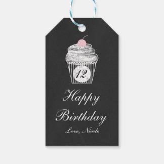 Chalkboard Chalk Cupcake Birthday Gift Tag