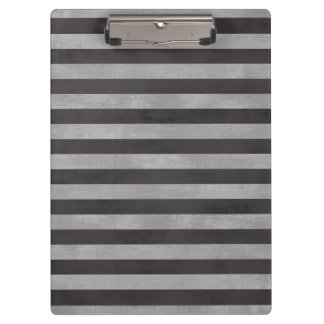 Chalkboard, Chalk Horizontal Stripes Clipboard